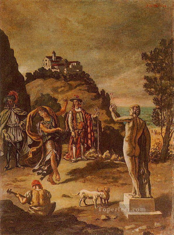 rural scenes with landscape Giorgio de Chirico Surrealism Oil Paintings