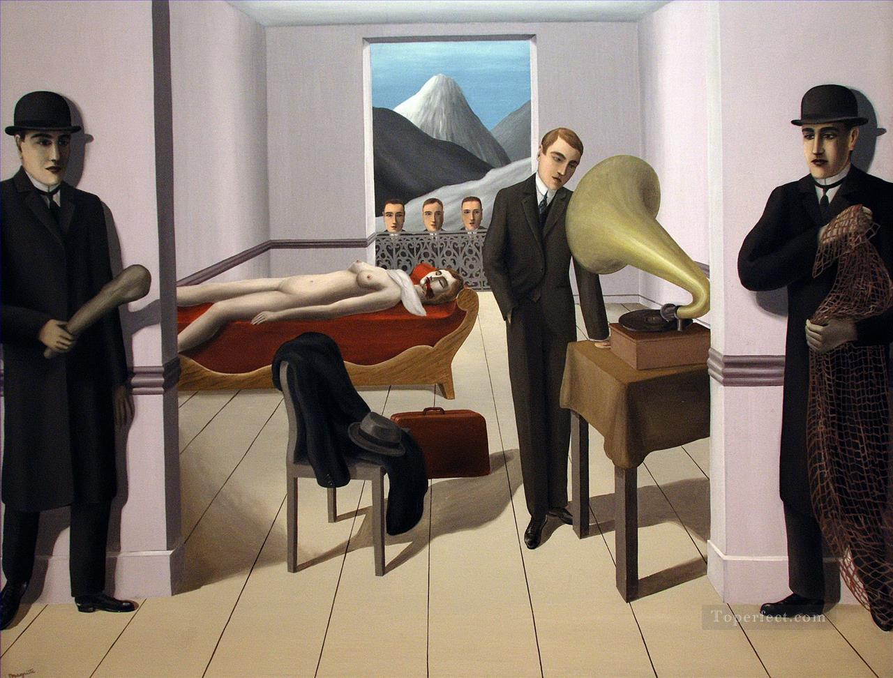 the menaced assassin 1927 Surrealism Oil Paintings