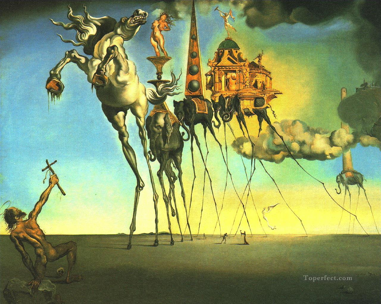 The Temptation of Sant Anthony Surrealism Oil Paintings