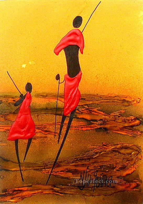 Tag Along African Oil Paintings