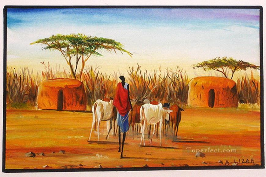 Long Walk Home from Africa Oil Paintings