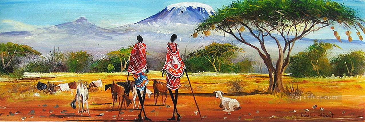 Near Mt Kilimanjaro from Africa Oil Paintings