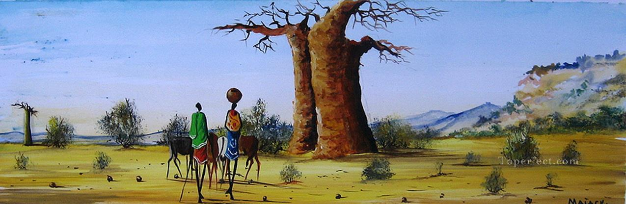 Under Baobab from Africa Oil Paintings
