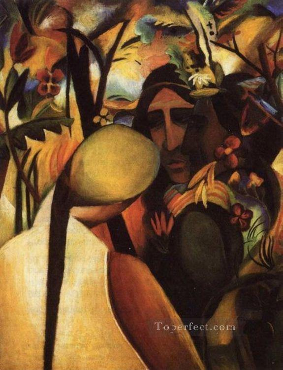 Indians Expressionism August Macke Oil Paintings
