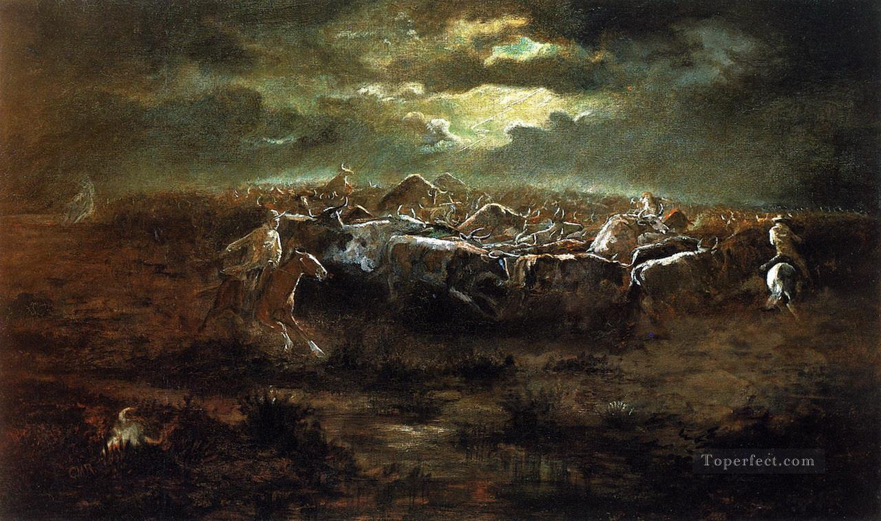 the last stand Charles Marion Russell American Indians Oil Paintings