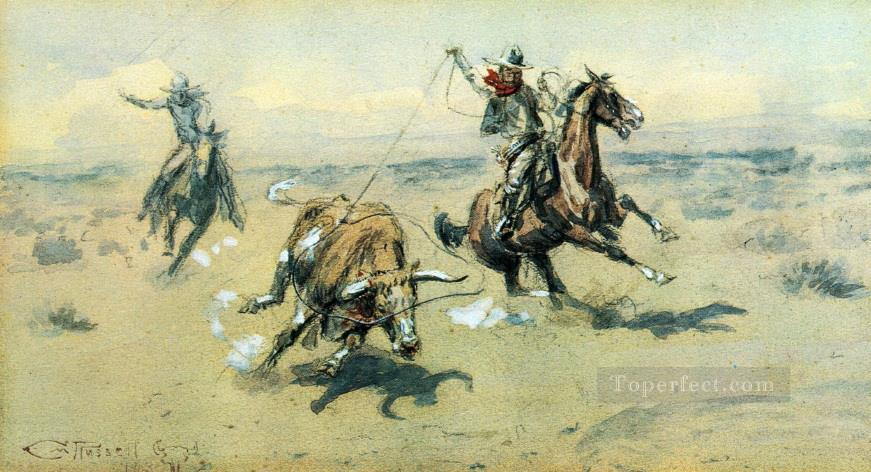 the bolter 2 1903 Charles Marion Russell American Indians Oil Paintings