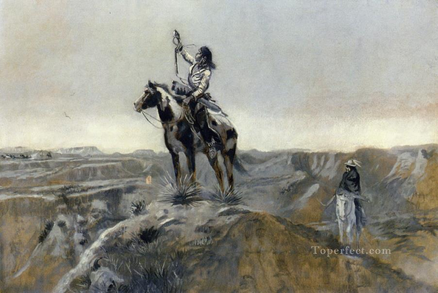 war Charles Marion Russell American Indians Oil Paintings