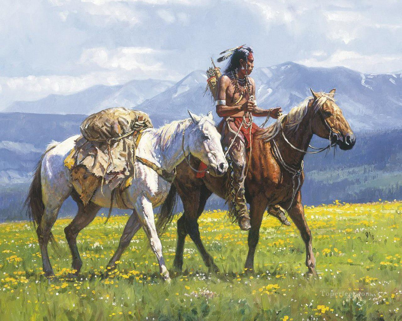 western American Indians 25 Oil Paintings