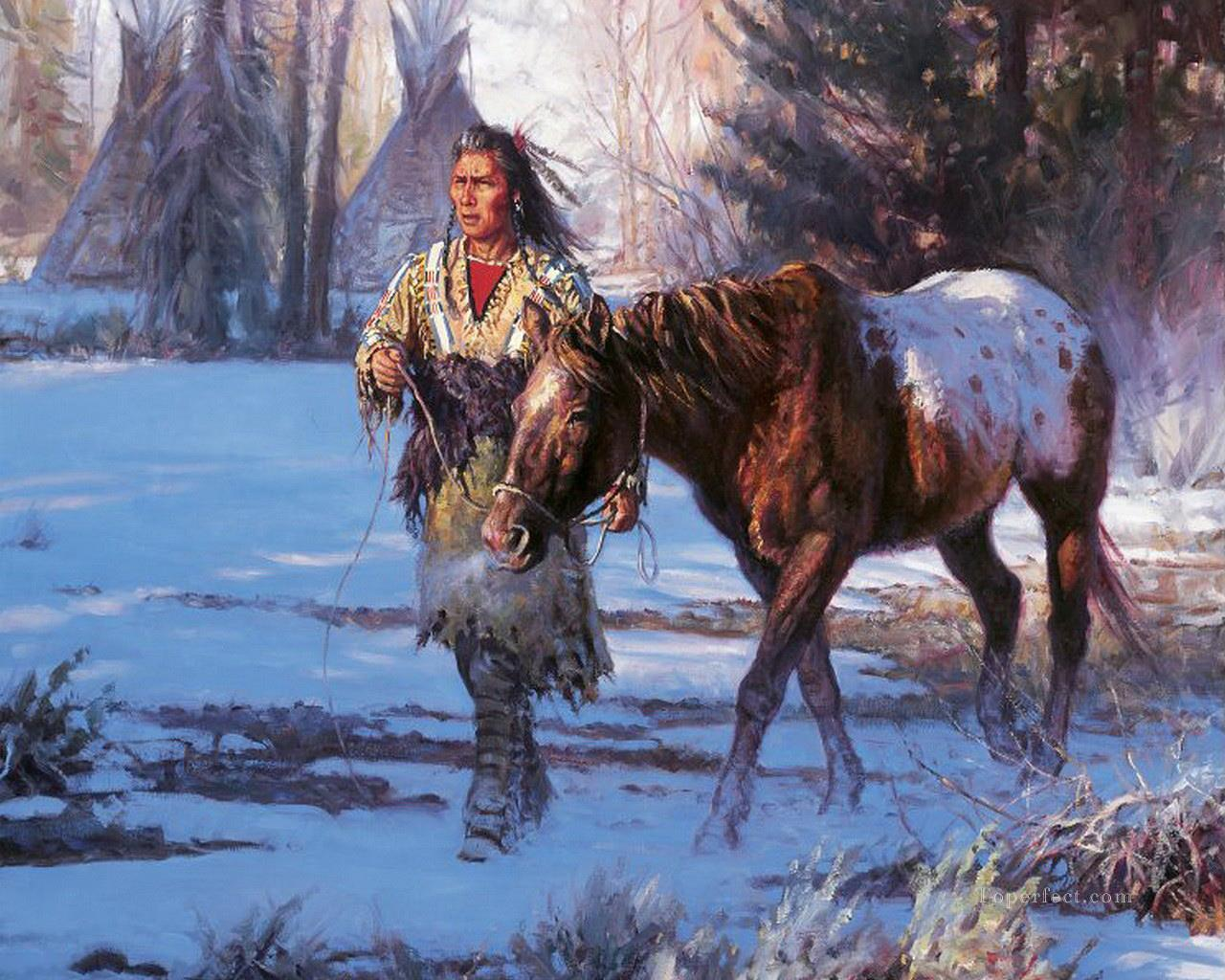 western American Indians 28 Oil Paintings