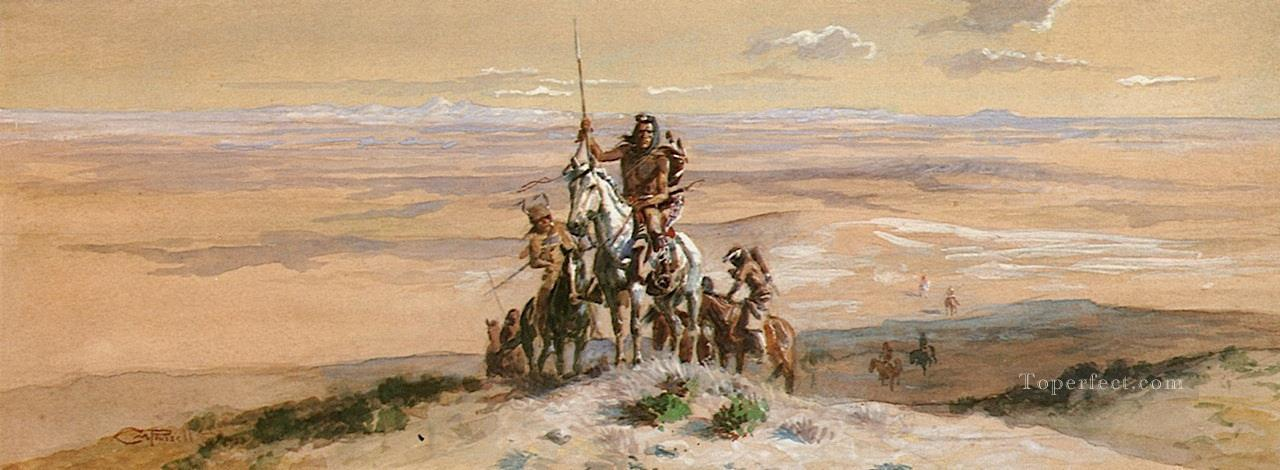 indian war party 1903 Charles Marion Russell American Indians Oil Paintings