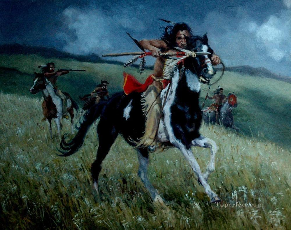western American Indians 66 Oil Paintings