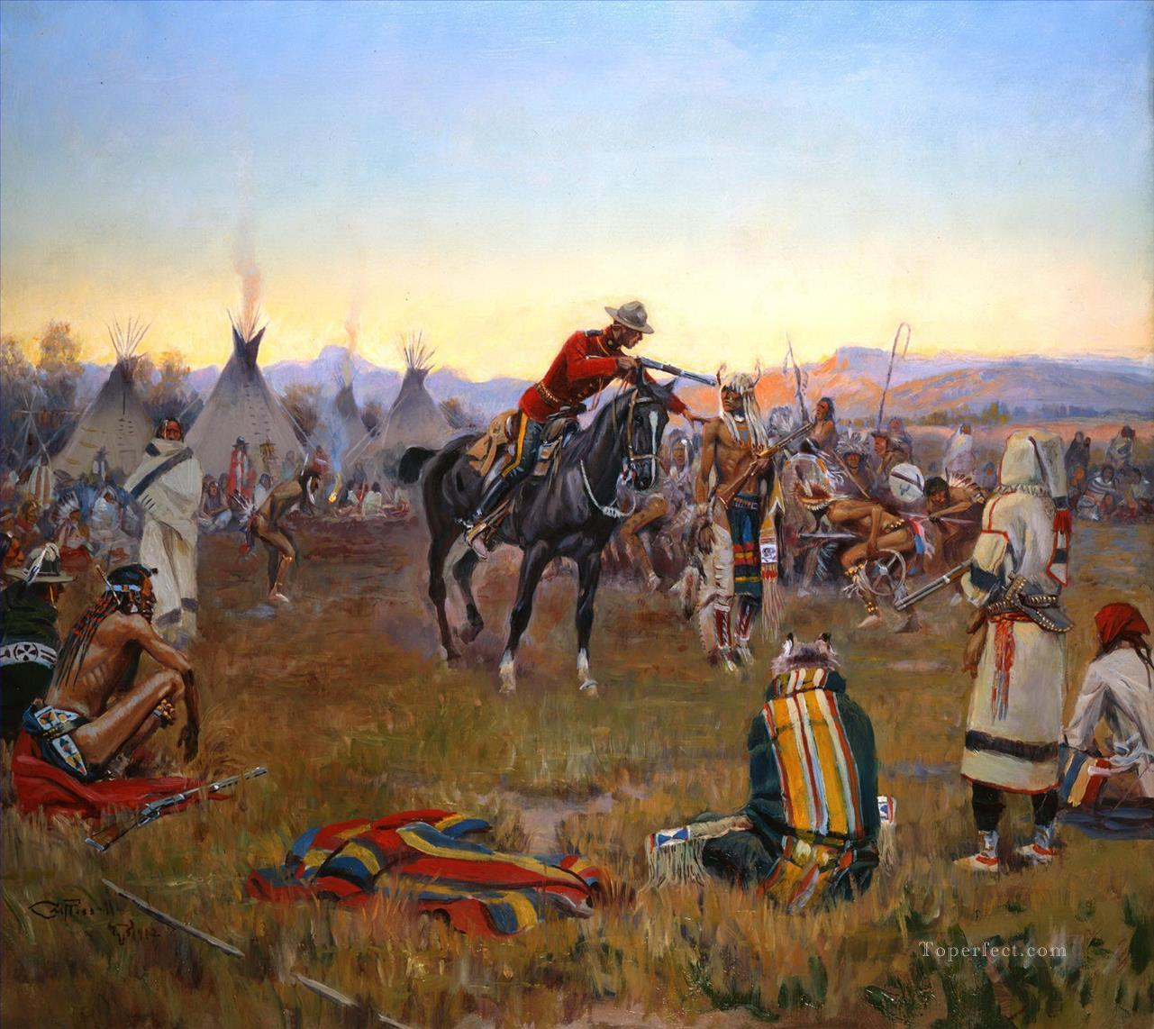 west america indiana 63 Painting in Oil for Sale