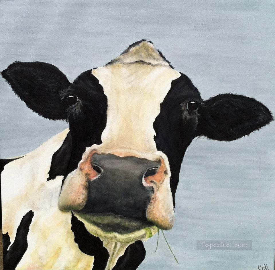 cow head Painting in Oil for Sale