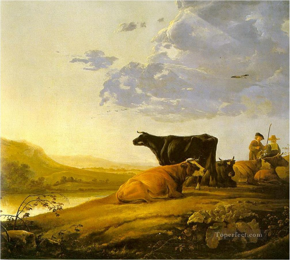 cows classical landscape Oil Paintings