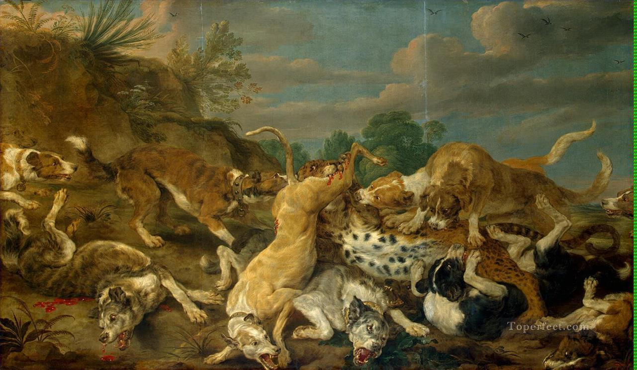 Vos Pauwel de The Leopard Hunt Oil Paintings