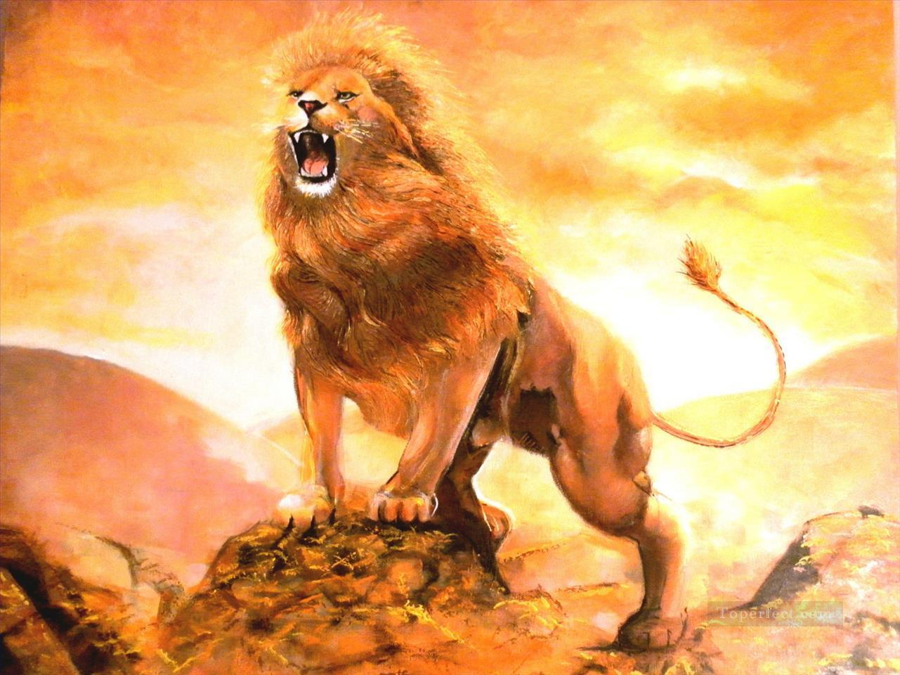 lion 7 Oil Paintings