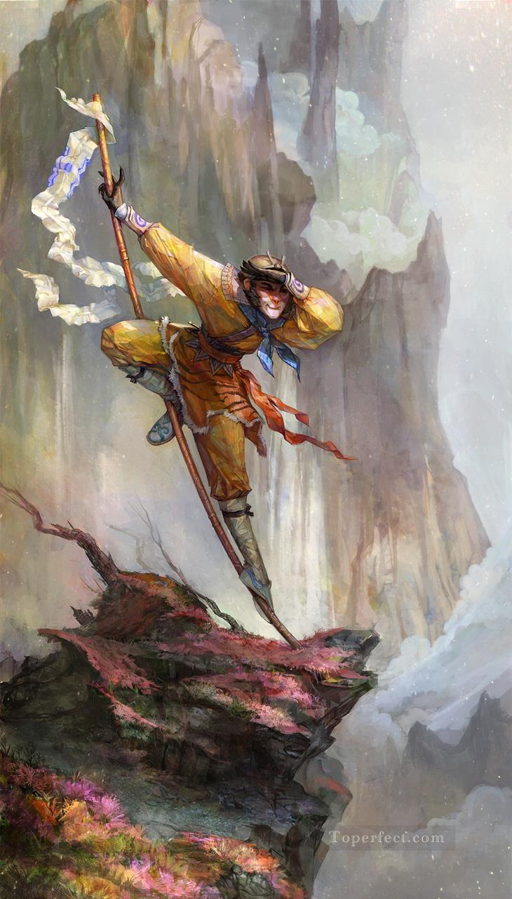1c4ce3eba Sun Wukong Moneky 05 Painting in Oil for Sale