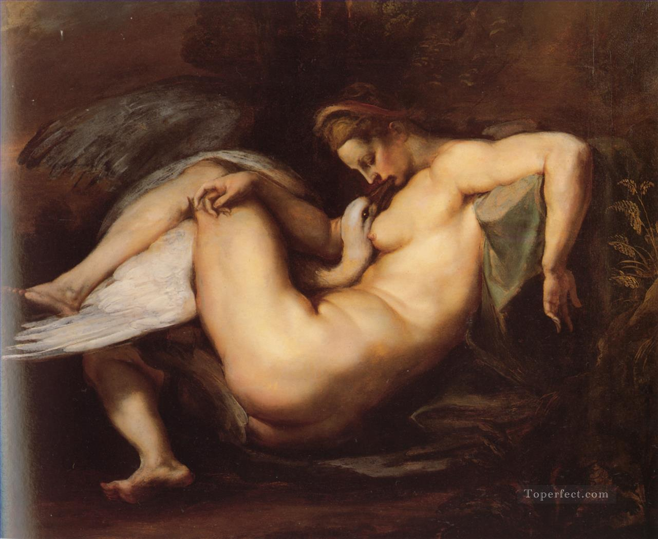 Leda and the Swan Baroque Peter Paul Rubens birds Oil Paintings