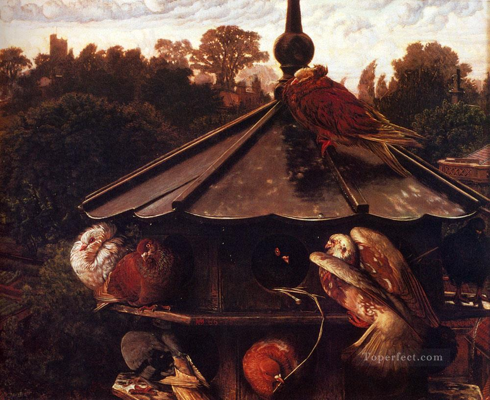 The Festival Of St Swithin Or The Dovecote British William Holman Hunt birds Oil Paintings