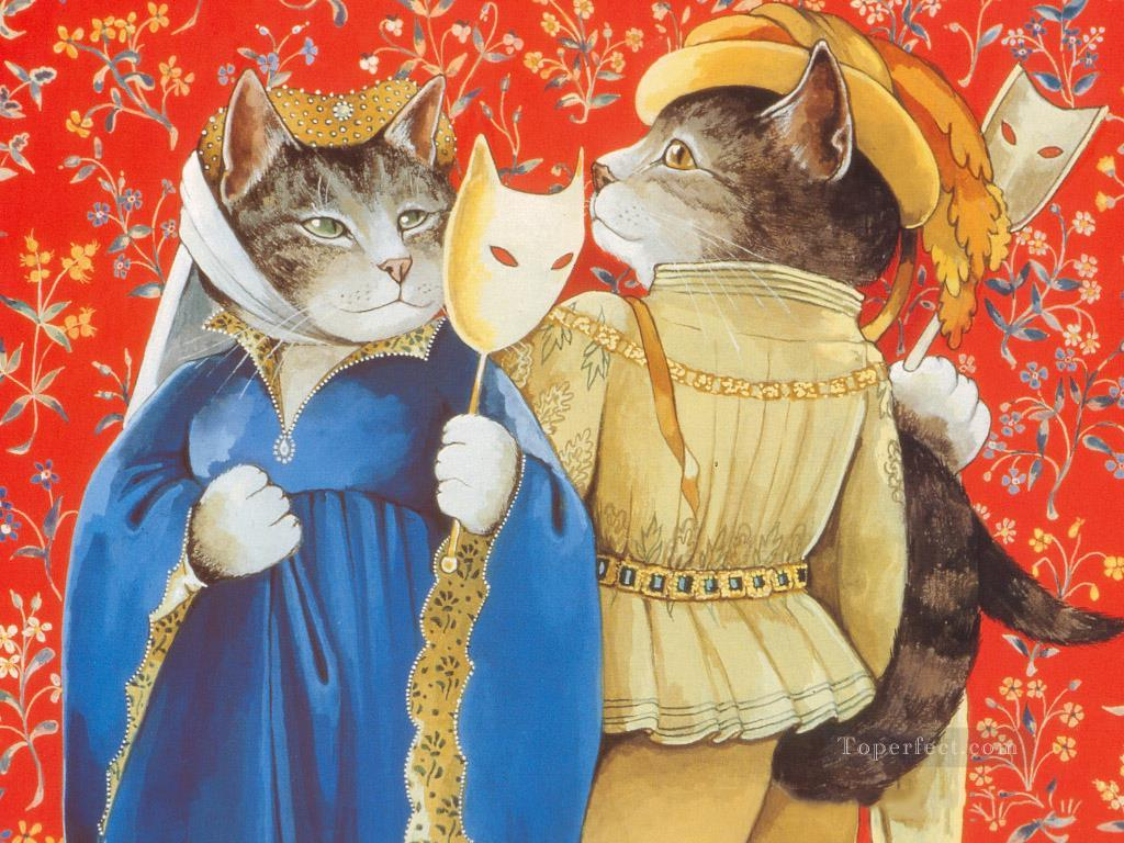 Shakespeare Cats Oil Paintings