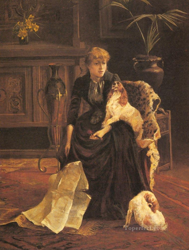 Companions animal Arthur Wardle dog Oil Paintings