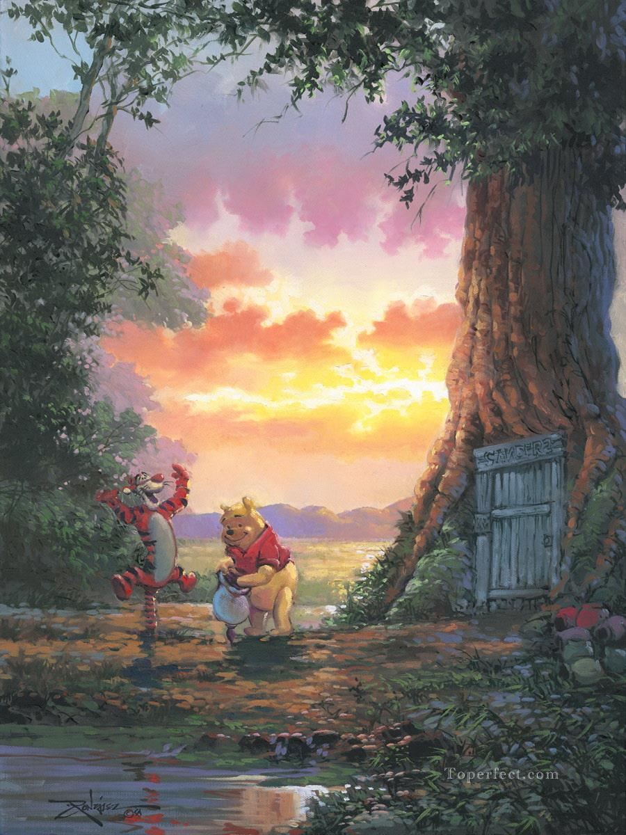 Good Morning Pooh facetious humor pet Oil Paintings
