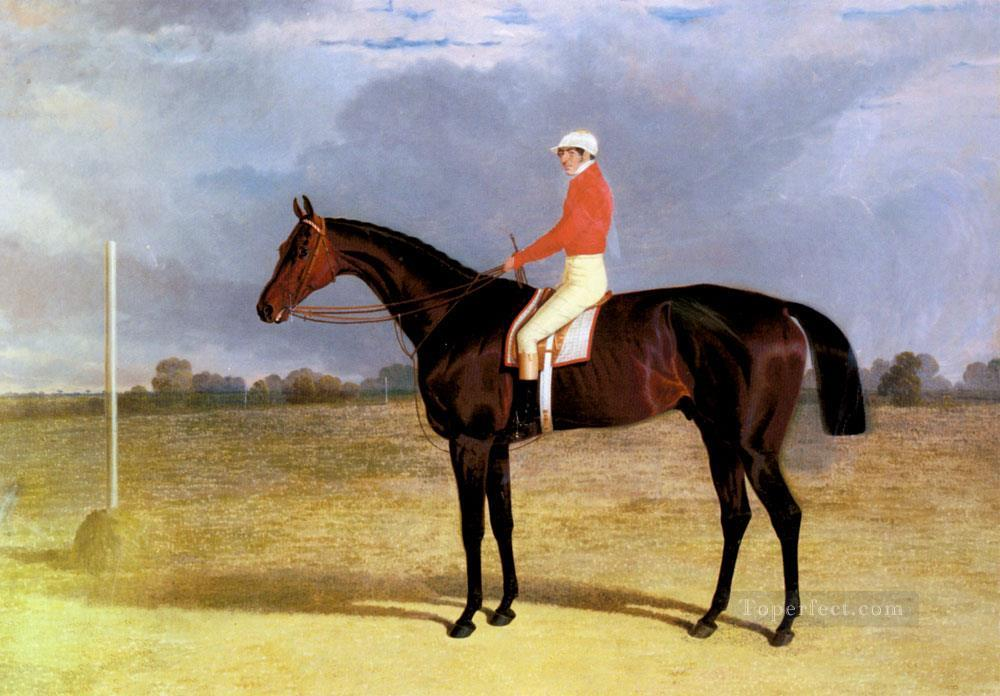 A Dark Bay Racehorse With Patrick Connolly Up Herring Snr John Frederick racehorse Oil Paintings