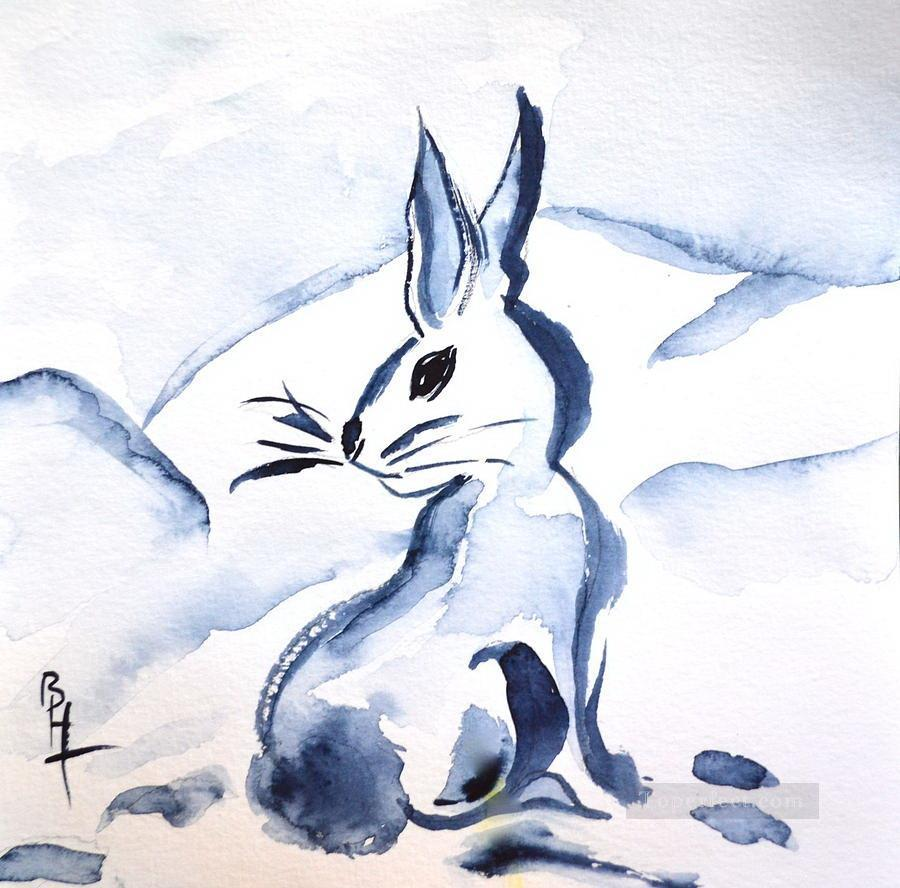 snow bunny beverley watercolor Oil Paintings