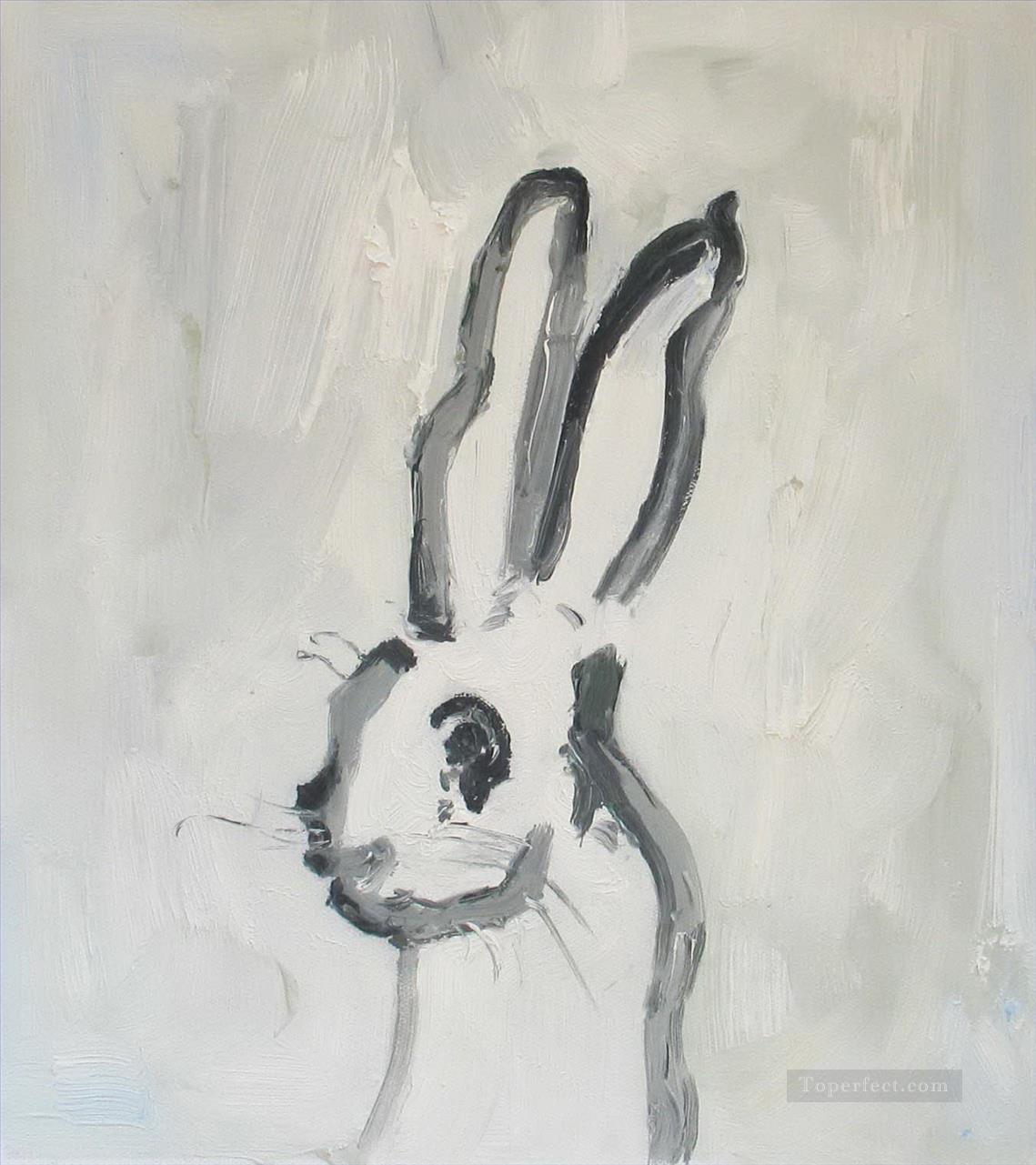 bunny thick paints Oil Paintings