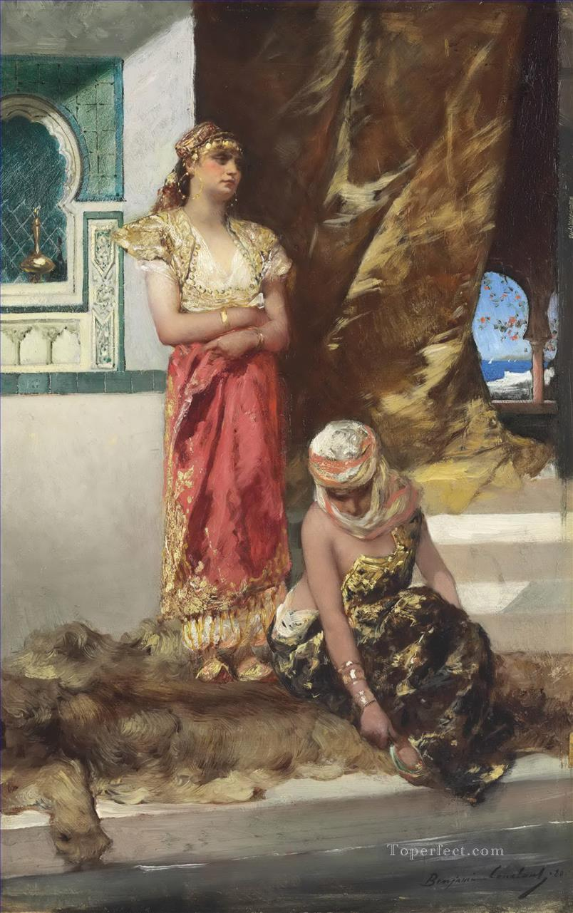 Afternoon in the Harem Jean Joseph Benjamin Constant Araber Oil Paintings