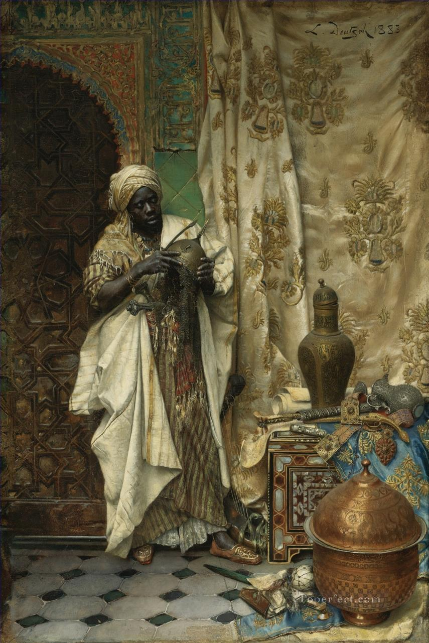 The Inspection Ludwig Deutsch Orientalism Araber Oil Paintings