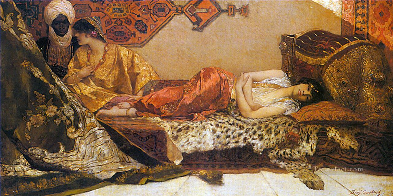 The Odalisque Jean Joseph Benjamin Constant Araber Oil Paintings