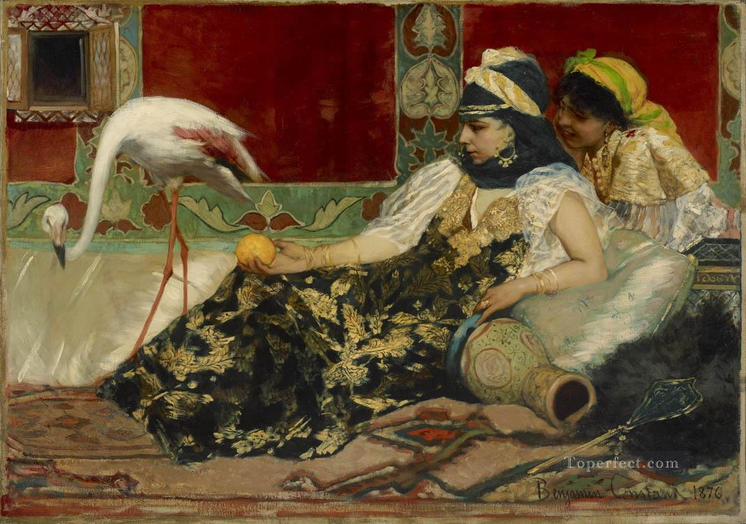 The Pink Flamingo Jean Joseph Benjamin Constant Araber Oil Paintings