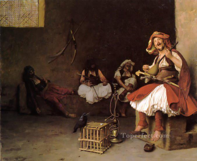 BashiBazouk singing Arab Jean Leon Gerome Oil Paintings