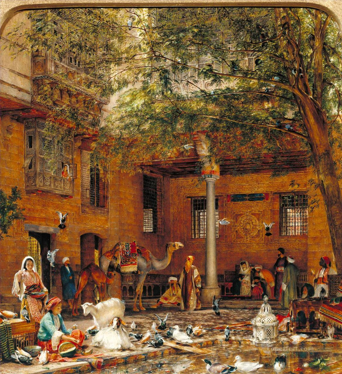 Study For The Courtyard Of The Coptic Patriarchs House In