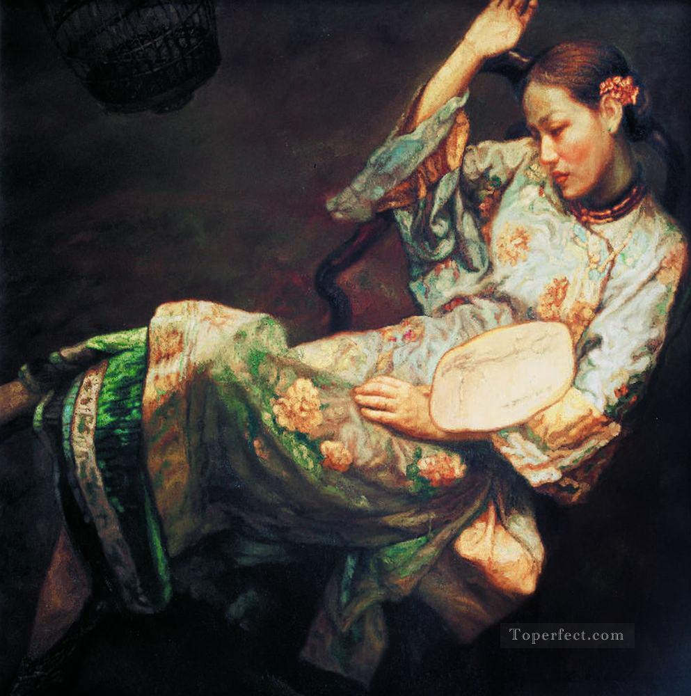 Drunk Beauty Chinese Chen Yifei Oil Paintings