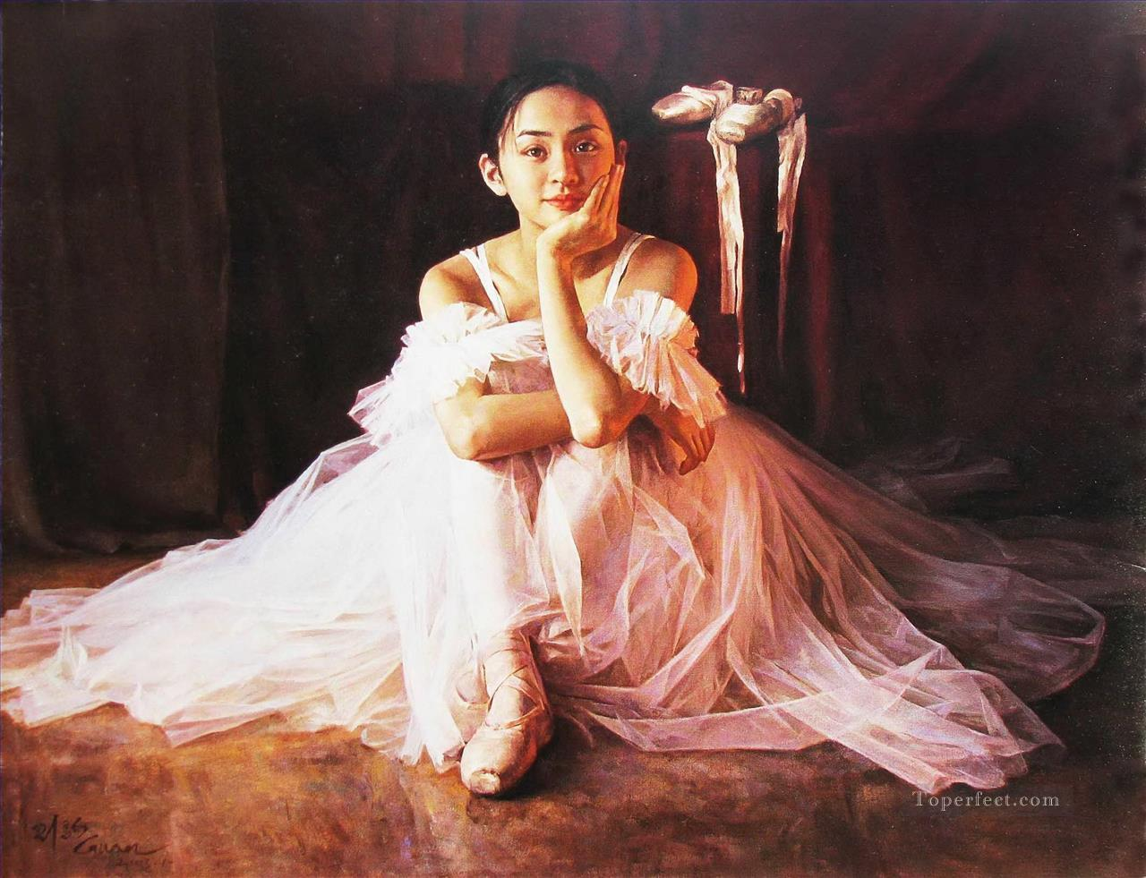 Ballerina Guan Zeju18 Chinese Oil Paintings