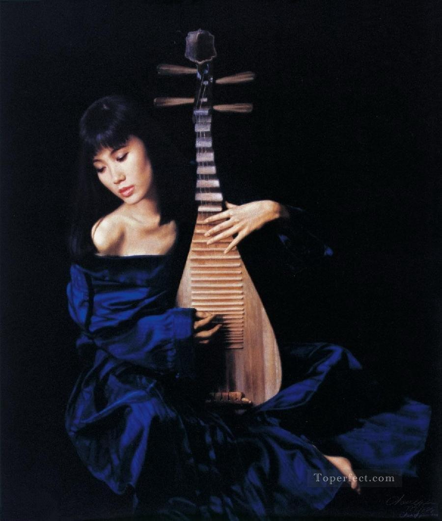 Pipa Chinese Chen Yifei Girl Oil Paintings