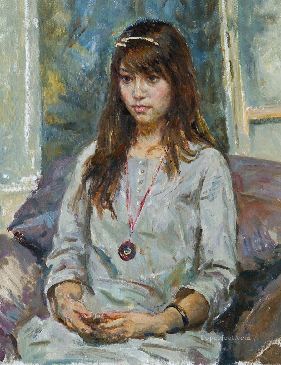 Wenwen Chinese girl Oil Paintings