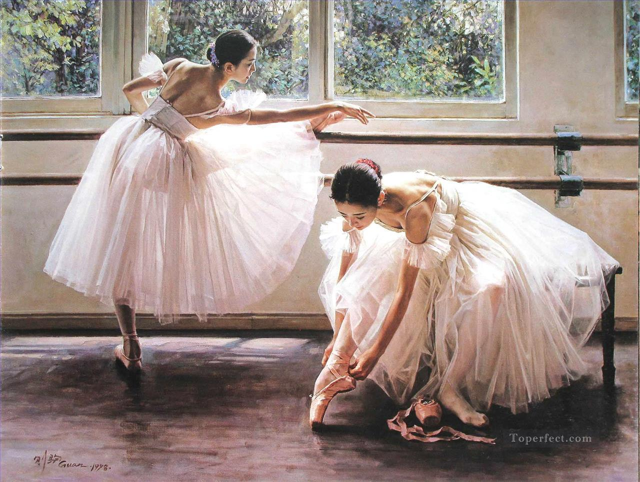 Ballerinas Guan Zeju16 Chinese Oil Paintings