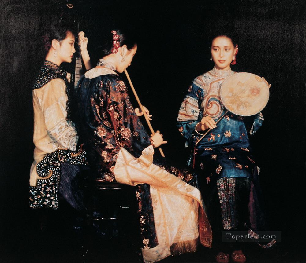 Xunyang Rhyme Chinese Chen Yifei Girl Oil Paintings
