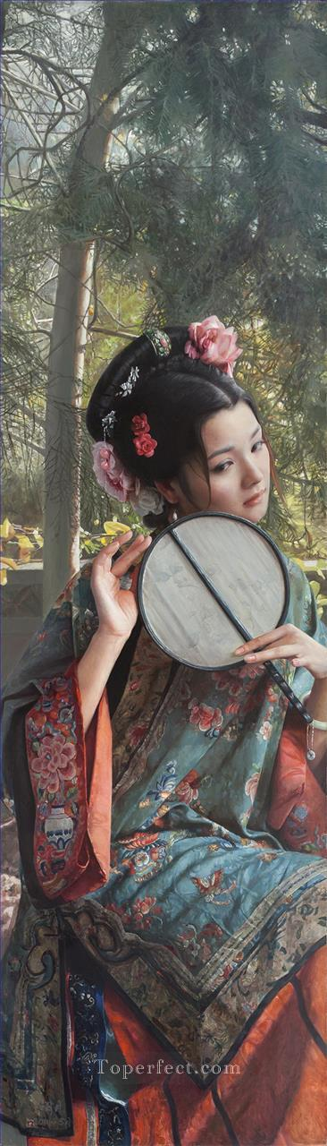 a beauty in Nanjing Chinese girl Oil Paintings