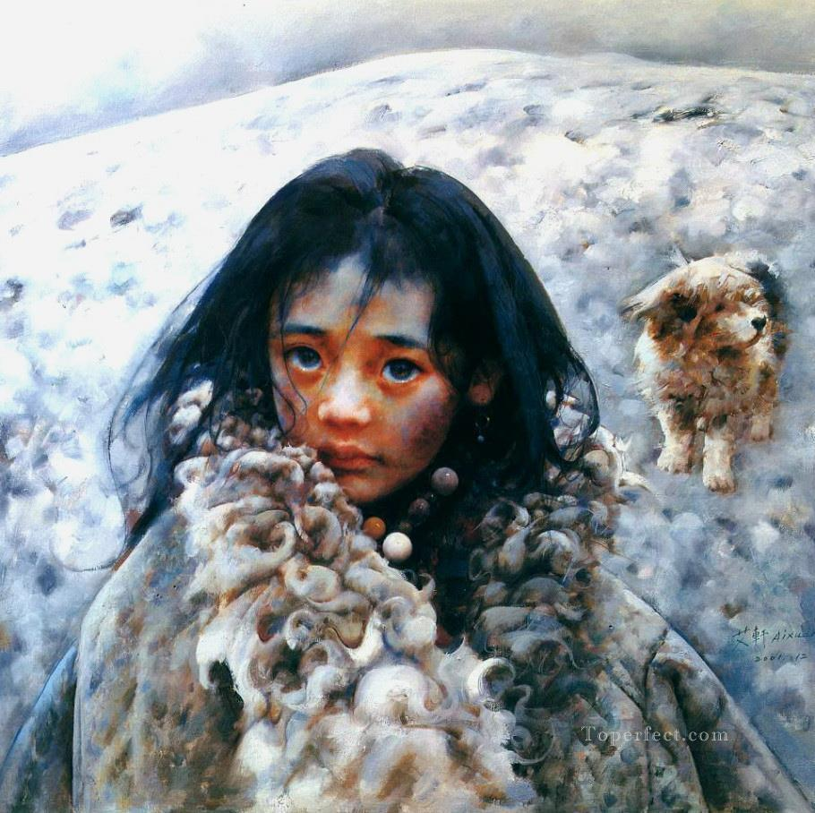 Blizzard swept tundra AX Tibet Oil Paintings