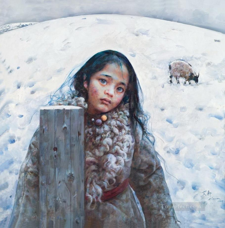 Waiting for blooming AX Tibet Oil Paintings