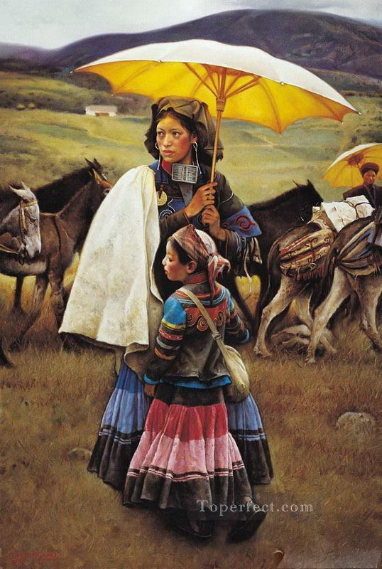 Caravan Tibet Oil Paintings