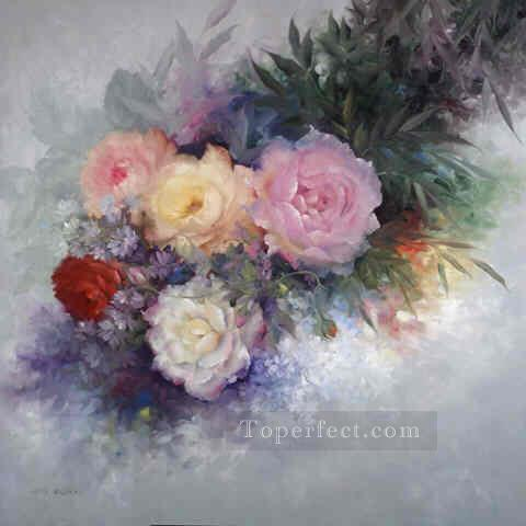 fl022E classic flower Oil Paintings