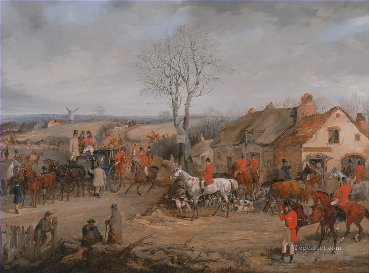 Henry Thomas Alken Hunting Scene The Meet Oil Paintings