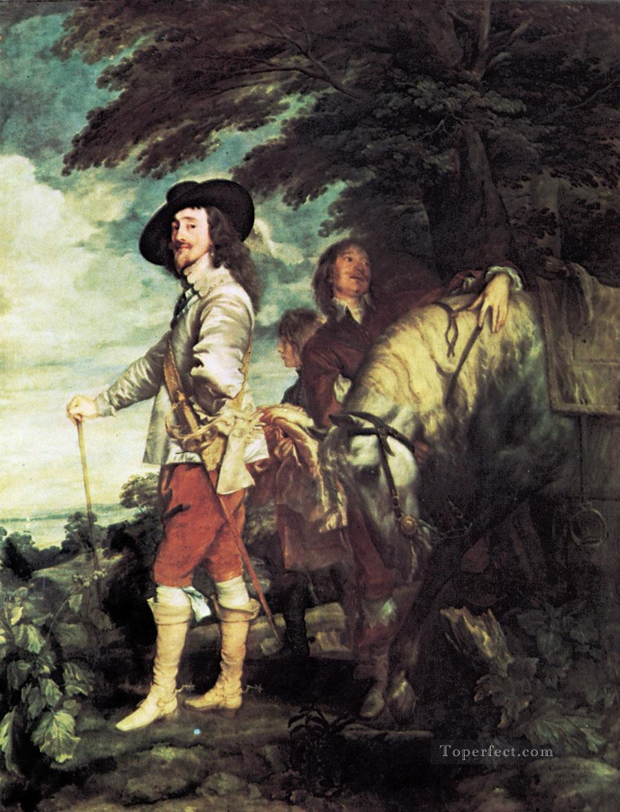 Portrait of Charles I Gdr0classical hunting Oil Paintings