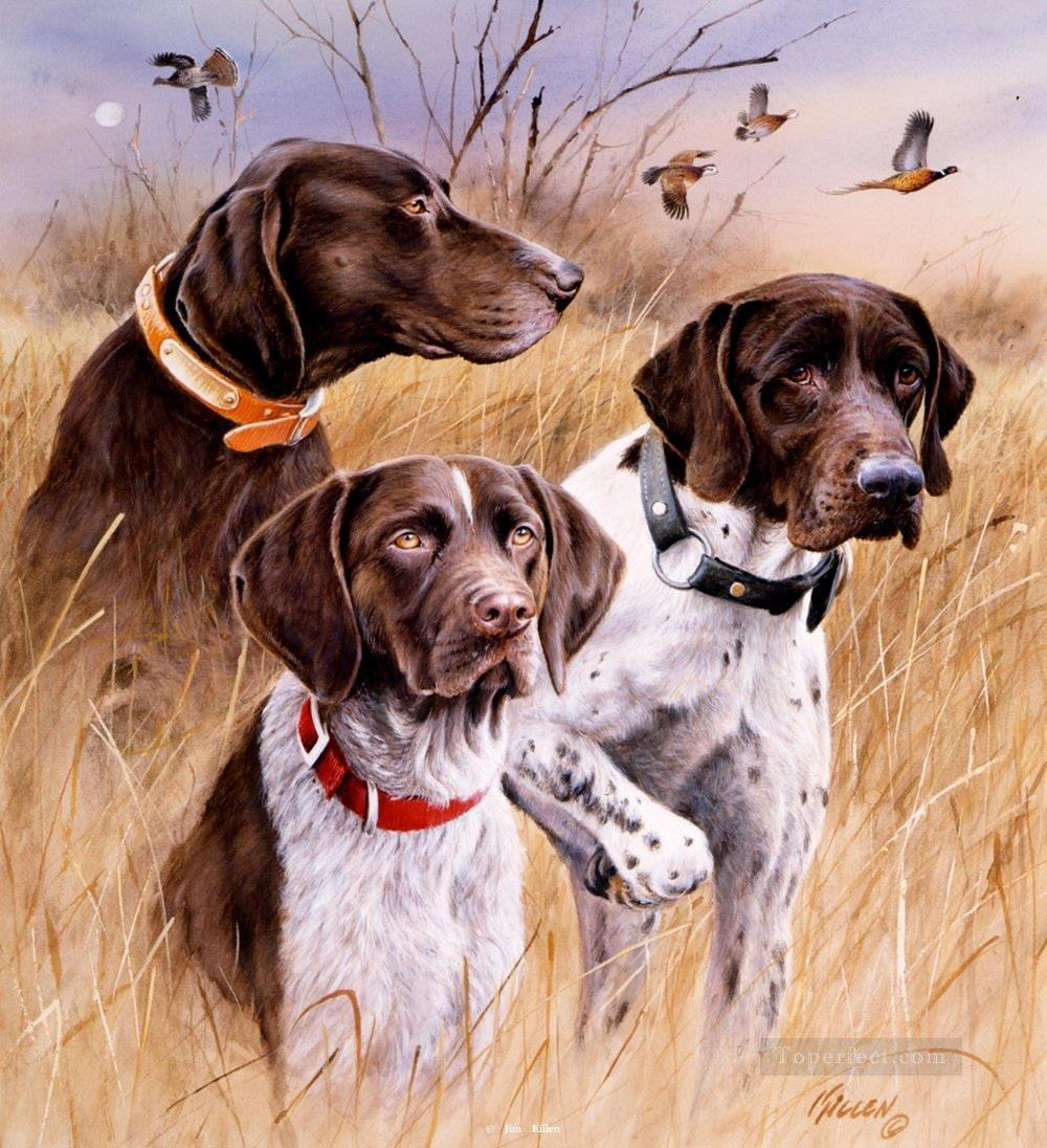hounds 2 cynegetics Oil Paintings