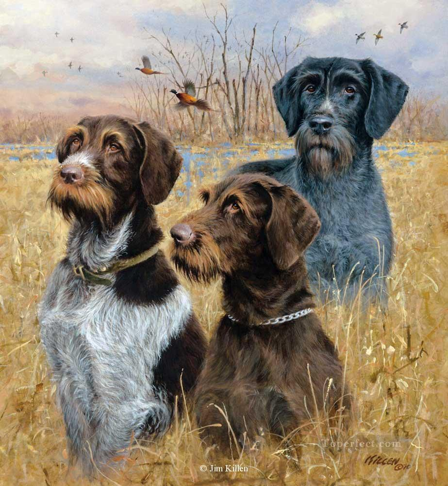 hounds and mallards cynegetics Oil Paintings